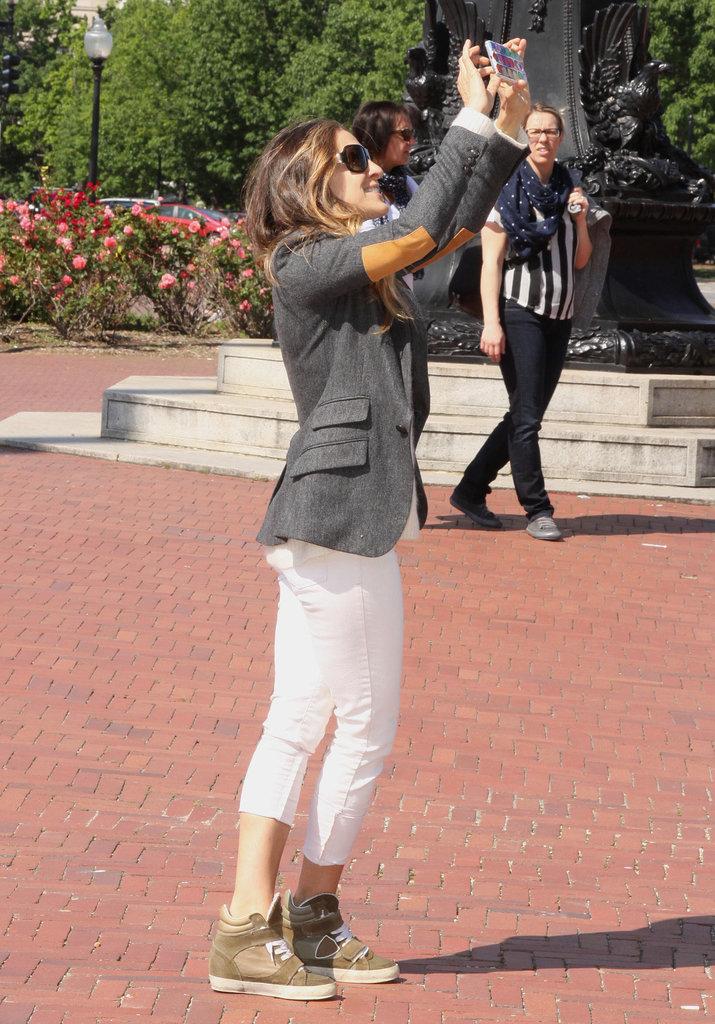Sarah Jessica Parker went sightseeing on Monday in Washington DC.