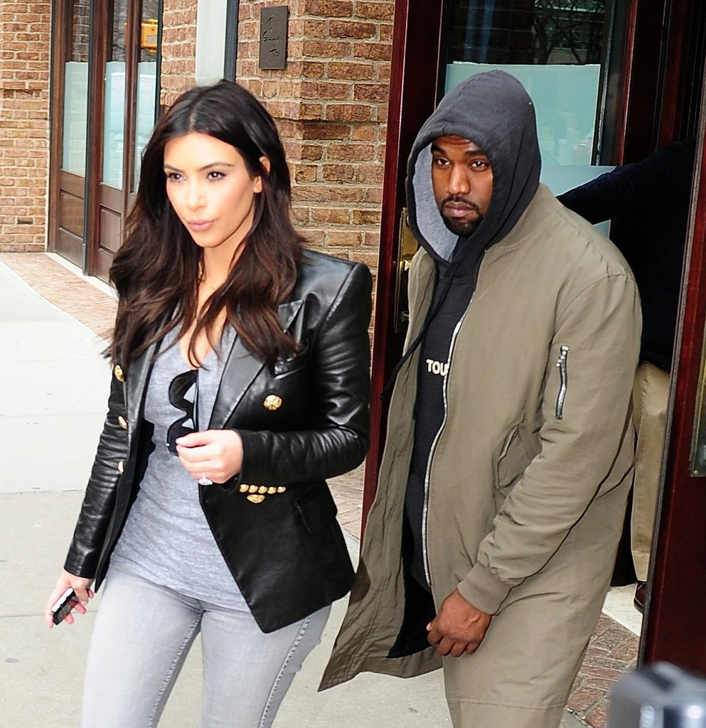 In March 2014, Kim Kardashian and Kanye West were seen in Tribeca, NY.
