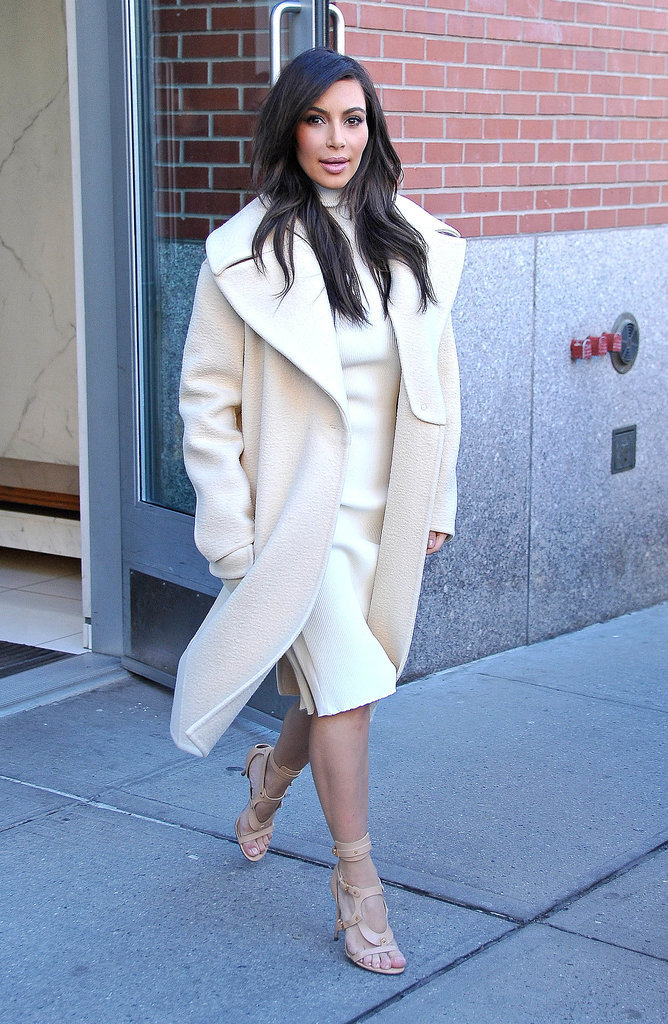 Kim Kardashian stepped out in New York City in February 2014.
