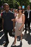Ahead of their wedding, Kim Kardashian and Kanye West went shopping on Paris's Avenue Montaigne.