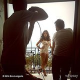 Eva Longoria took part in a photo shoot at a hotel. Source: Instagram user evalongoria
