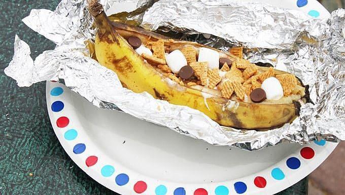 Campfire S'mores Banana Boats