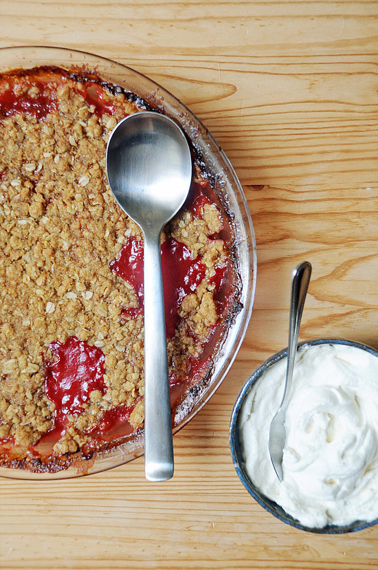 What to Make: Strawberry-Rhubarb Crumble