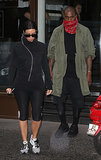 She and Kanye also visited a gym on Wednesday morning.