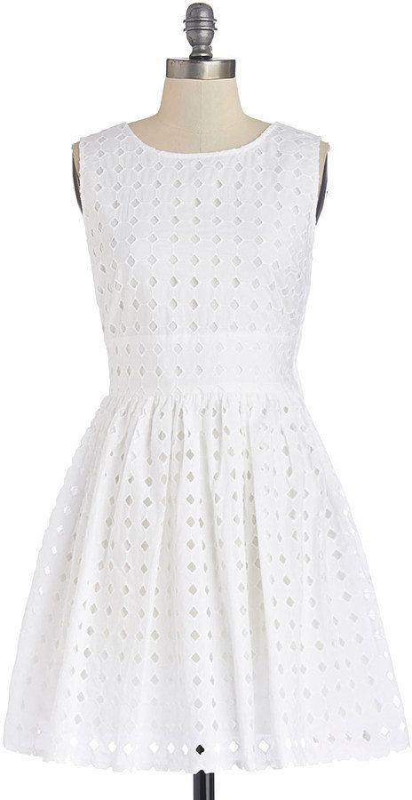 BB Dakota White Eyelet Dress