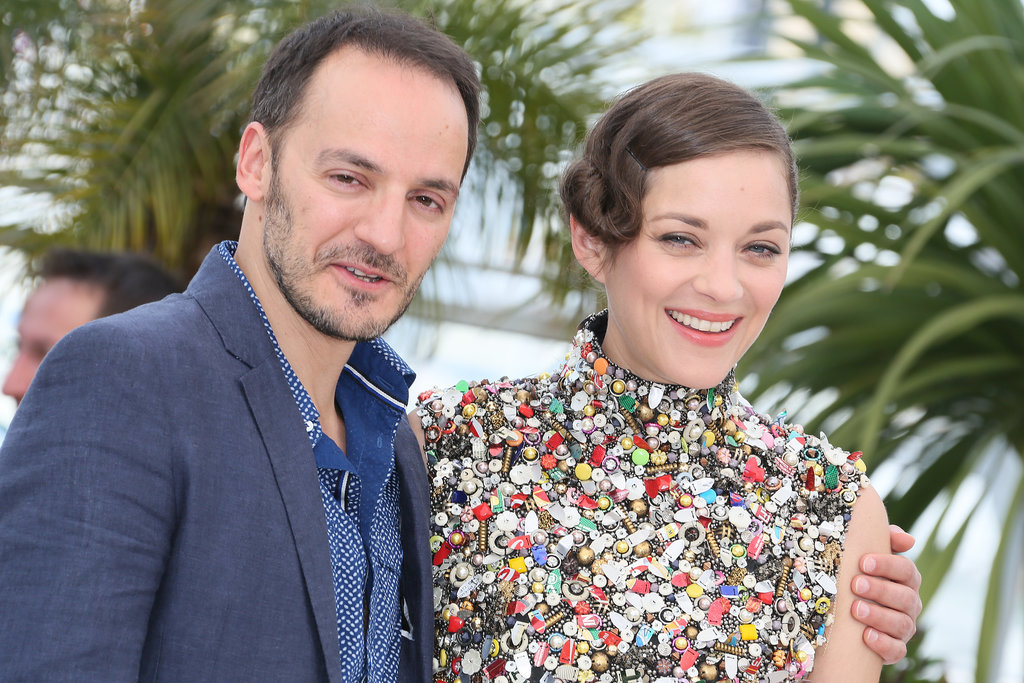 Deux Jours, Une Nuit costars Fabrizio Rongione and Marion Cotillard got cute at the photocall for their movie.