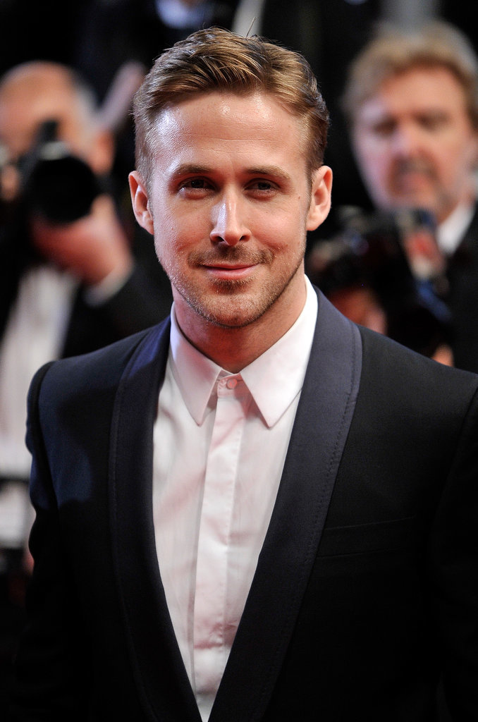 Ryan Gosling wore black and white to the Lost River premiere.