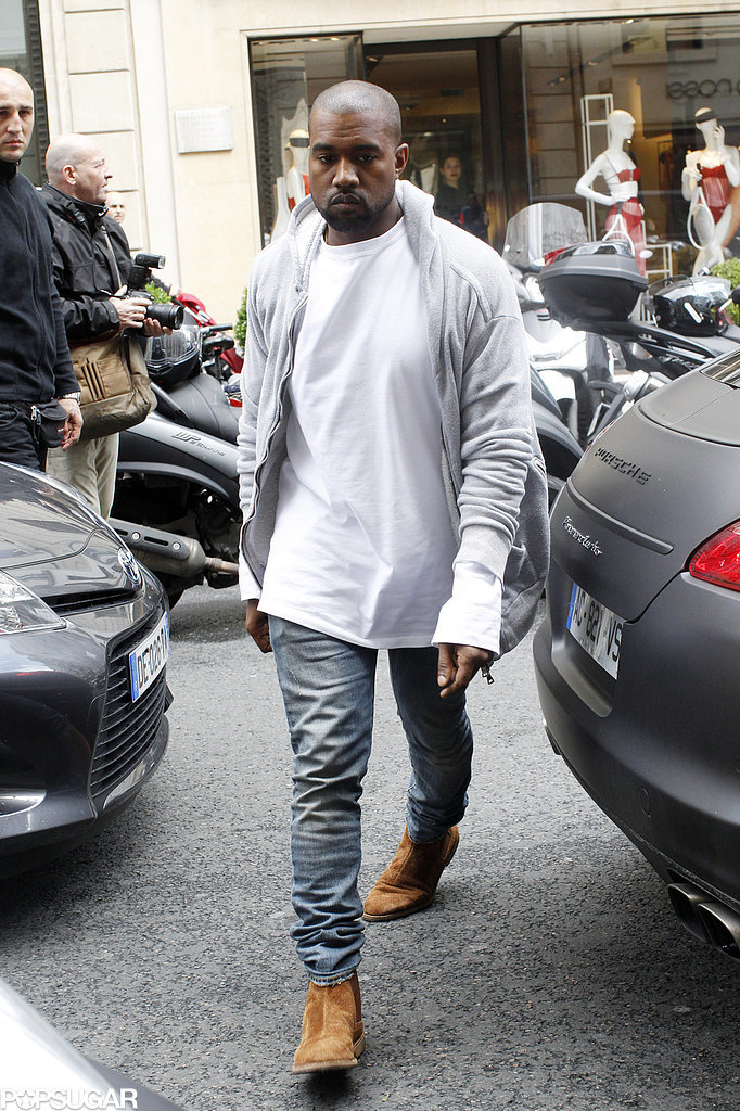 On Thursday, Kanye West visited Lanvin with his father.