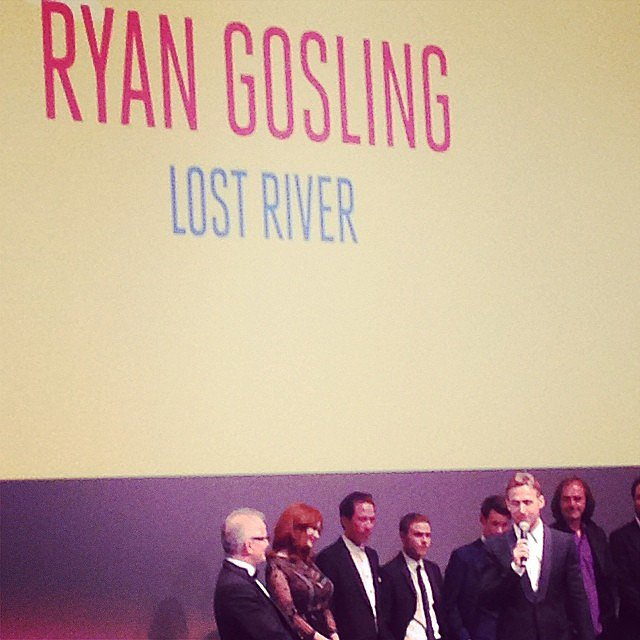 Ryan Gosling announced his directorial debut, Lost River, at its Cannes premiere, telling the audience he was honored to present his film at such a prestigious event.