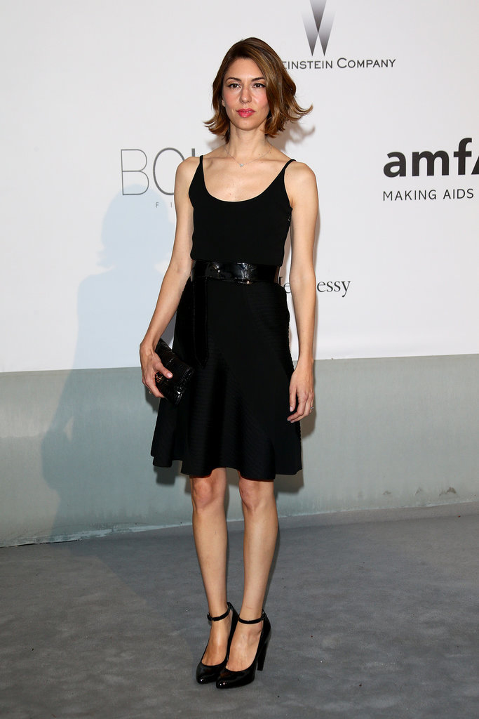 Sofia Coppola wore a black cocktail dress.
