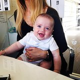 Little Kaius Berman helped his mom, Rachel Zoe, at work. Source: Instagram user rachelzoe