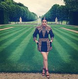 Khloé Kardashian posed in the Chateau de Wideville's gardens. Source: Instagram user khloekardashian