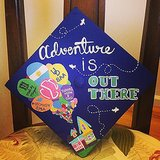 This is a popular way to decorate grad caps, inspired by Up. Source: Instagram user mawalsh