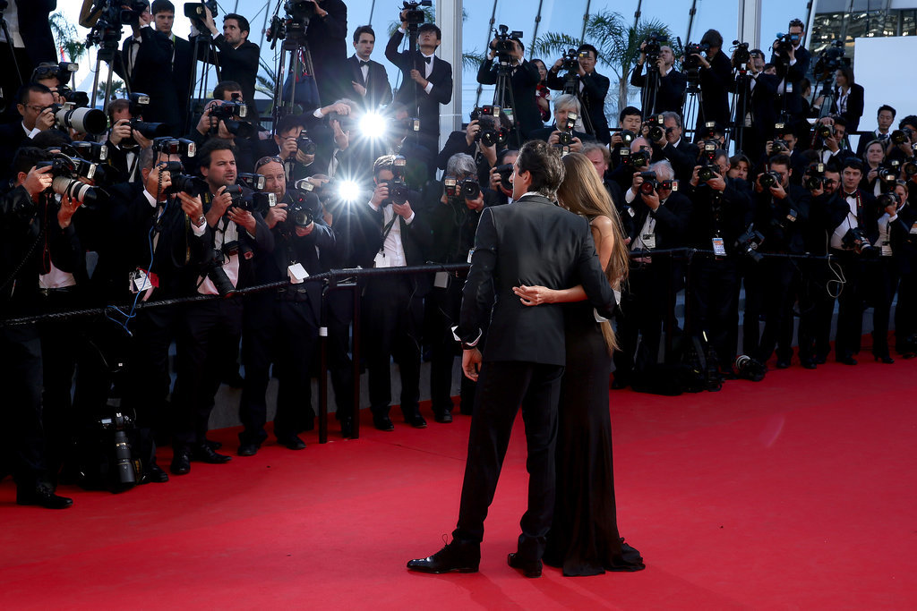 Adrien Brody and his girlfriend, Lara Lieto, showed sweet PDA at the closing ceremony of the festival.