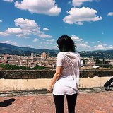 "Kylie Jenner said ""goodbye"" to the gorgeous Italian countryside. Source: Instagram user kyliejenner"
