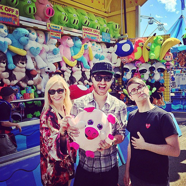 Christian Siriano took in the county fair with friends. Source: Instagram user csiriano