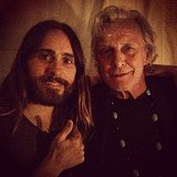 Jared Leto was thrilled to be next to Rutger Hauer.  Source: Instagram user jaredleto
