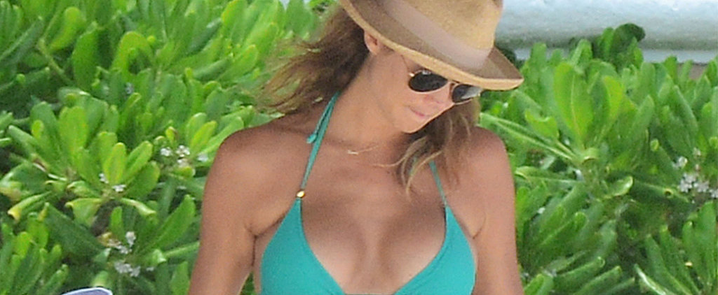 Stacy Keibler Bares Her Baby Bump in a Bikini