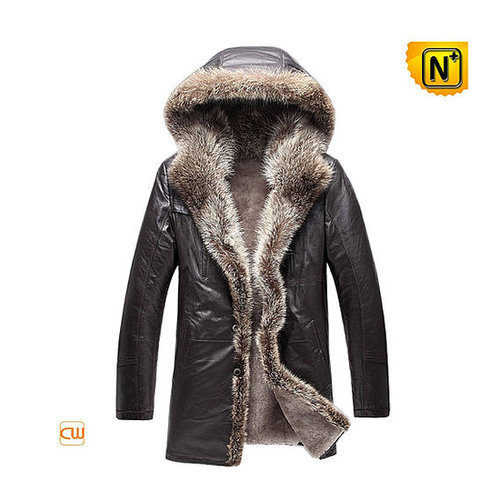 Shearling Mens Leather Jackets with Fur CW877159