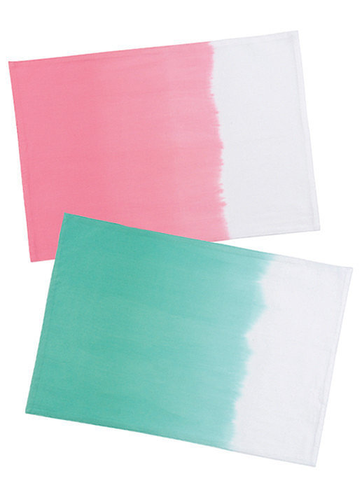 Channel a casual vibe with these dip-dyed placemats ($12).