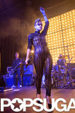 Lily Allen performed in a shocking outfit in Hamburg, Germany, on Monday.