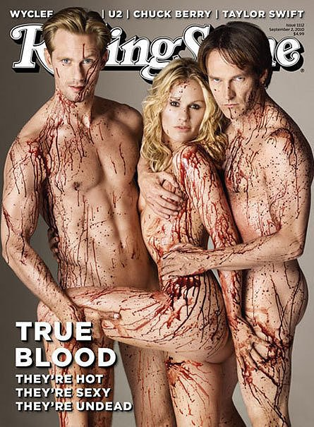 Alexander Skarsgard, Anna Paquin, and Stephen Moyer For Rolling Stone, September 2010