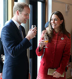 Prince William and Kate Middleton let loose while sampling whisky in Scotland.