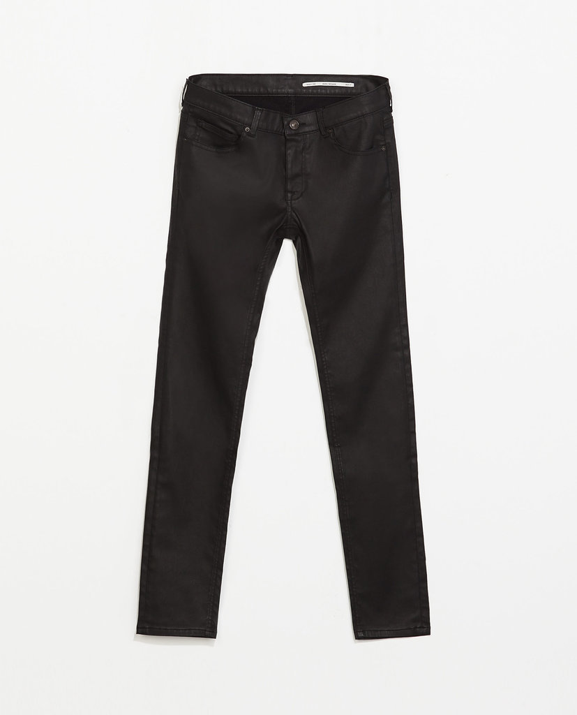 Zara coated trousers ($70)