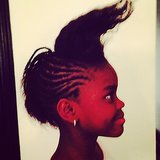 Mercy James showed off her wacky mohawk for her mom, Madonna. Source: Instagram user madonna