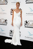 Heidi Klum in White Versace at the 2014 Cannes Film Festival