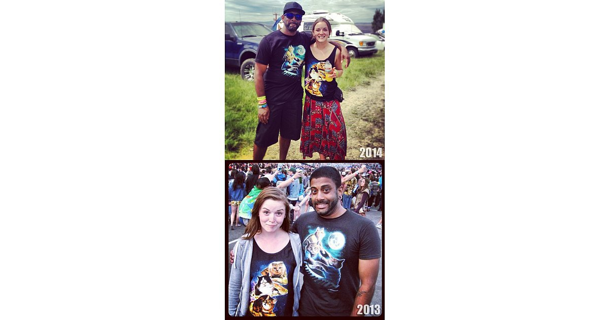 i ran into this girl two years in a row at sasquatch