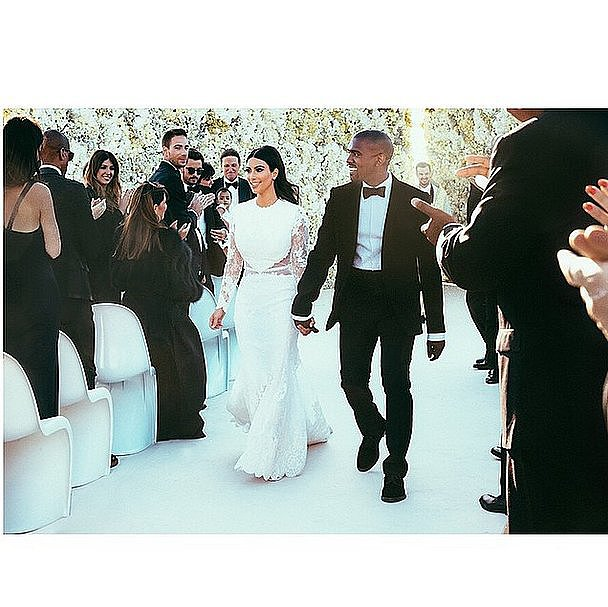 Kim Kardashian and Kanye West's extravagant wedding has been grabbing headlines for everything from the groom's long speech to the bride's number of wardrobe changes. Given the great interest in the year's most anticipated nuptials, we just had to break down Kim and Kanye's celebration by the numbers. Source: Instagram user kimkardashian