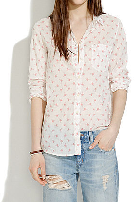 Madewell Flamingo-Print Button-Down