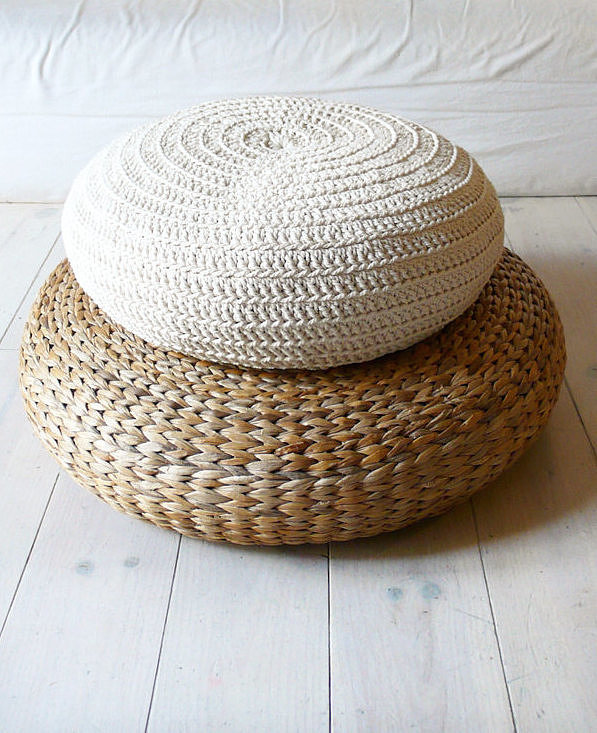 Give your current pouf a quick change with a crochet cover ($73). With a similar look to floor pillows, it's perfect for indoor and outdoor use.