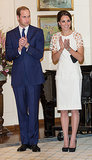Kate looked splendid in white during a stop by Government House in Australia in April 2014.