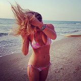 Bar was gone with the wind in her bikini during a day on the beach in November 2013. Source: Instagram user barrefaeli