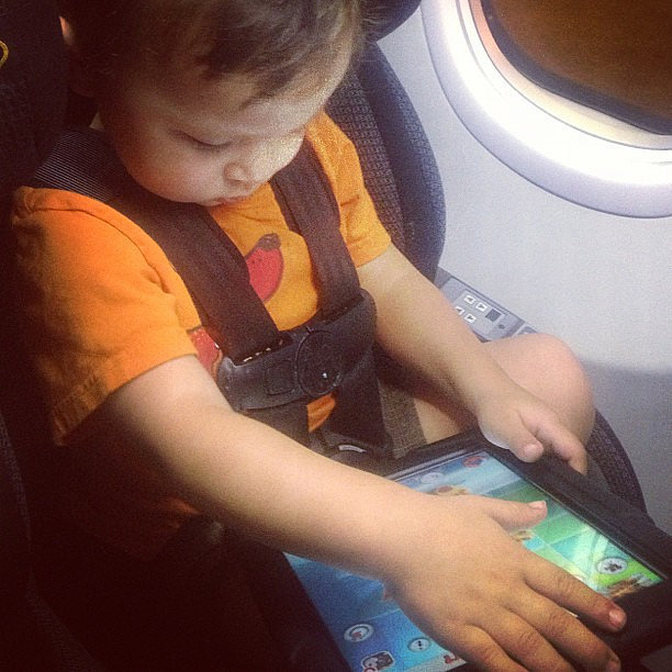 How Our Kids Keep Busy on an Airplane