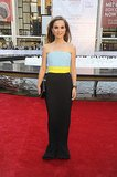 Natalie Portman in Colorblock Christian Dior at the 2013 New York City Ballet Fall Gala