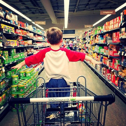 If you need to run to the store really quick, don't bring your child.