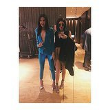 Kendall and Kylie Jenner showed some skin before their book signing. Source: Instagram user kyliejenner