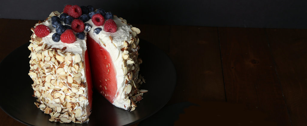How to Make a No-Bake Watermelon Cake, in Pictures