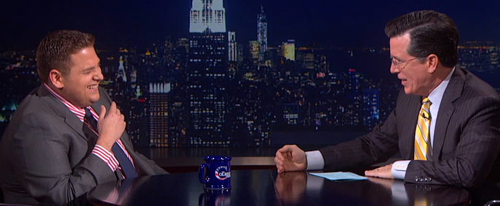 Stephen Colbert Has Jonah Hill Shaking in His Boots — and It's Hilarious