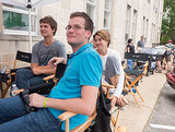 Author John Green on the set.
