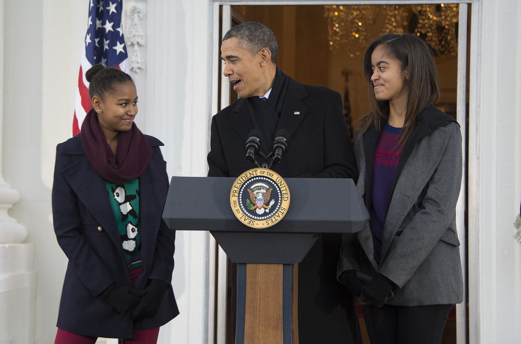 During Barack Obama's 2012 acceptance speech, he gave a sweet shout-out to his daughters: