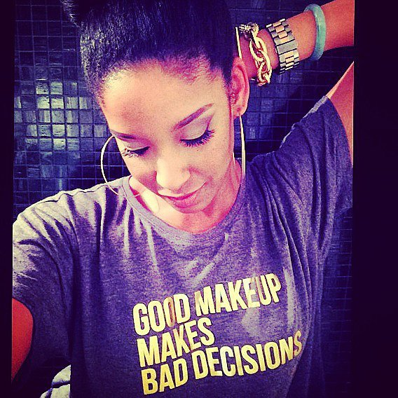 Good Makeup Makes Bad Decisions Crop Top