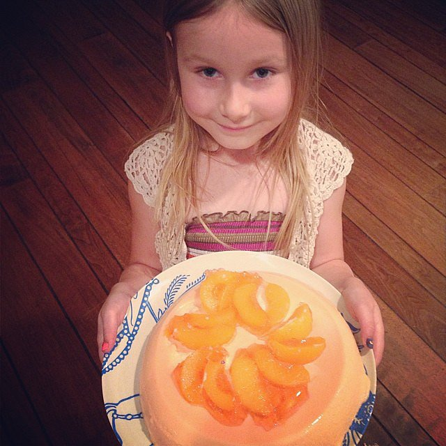 Stella McDermott is trying to bring the Jello mold back with her peachy creation. Source: Instagram user torianddean