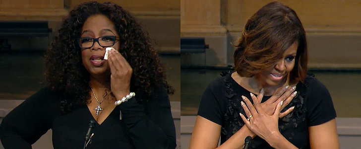 Oprah Winfrey and Michelle Obama Deliver Touching Tributes to Maya Angelou