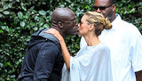 Friendly Exes Heidi Klum and Seal Share a Sweet Kiss