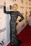 Judith Light broke out her dramatic poses on the step and repeat.