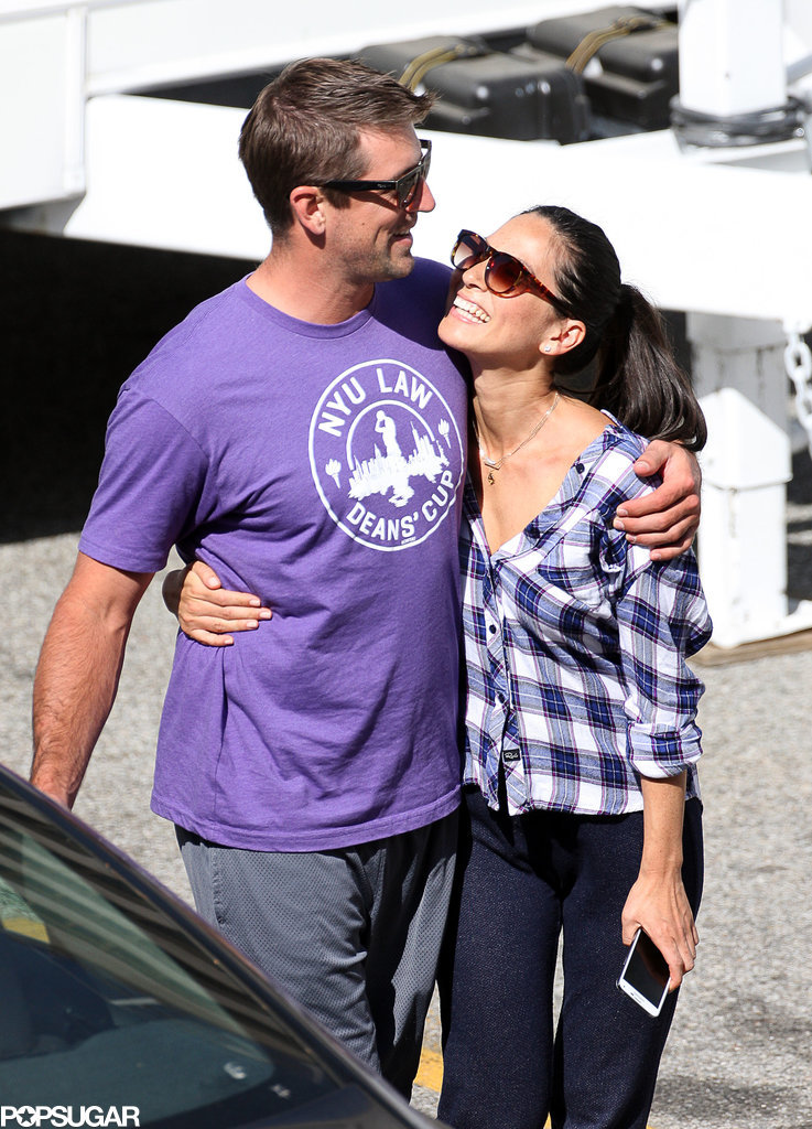 Aaron Rodgers with beautiful, Girlfriend